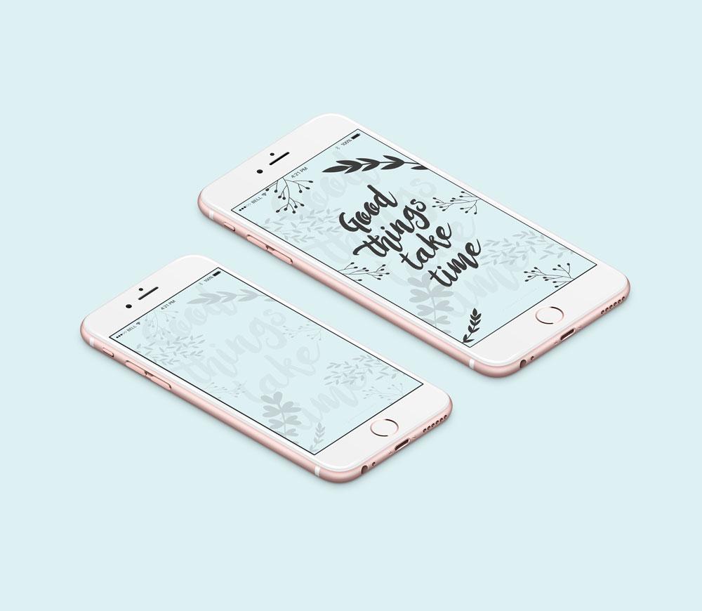 fonds d'écran design graphique blog février iphone