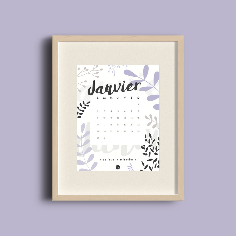 print calendrier 2017 janvier blog design graphique